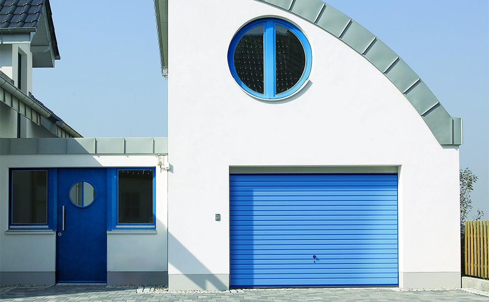 Bauer Tore Schwingtor blau